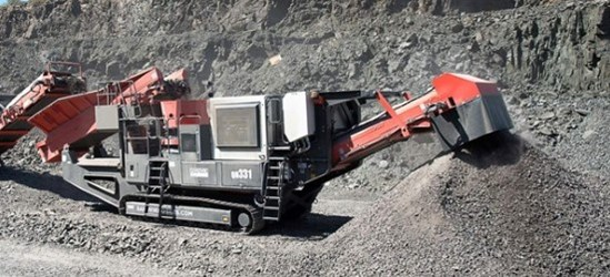 Sandvik QH331 Mobile cone crusher working in Scotland