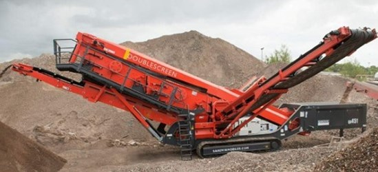 Sandvik QA451 Doublescreen in a recycling application
