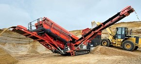Sandvik QA331 Mobile screener in quarrying