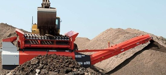 Sandvik QE141 Mobile scalper recycling