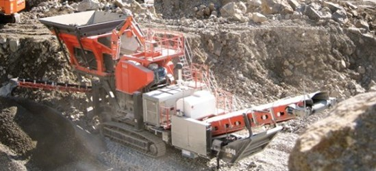 Sandvik UJ640 extra heavy duty jaw crusher with breaker