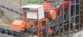 Sandvik UJ310 Wheeled jaw crusher