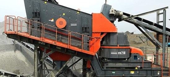 Sandvik UV311 Wheeled impact crusher