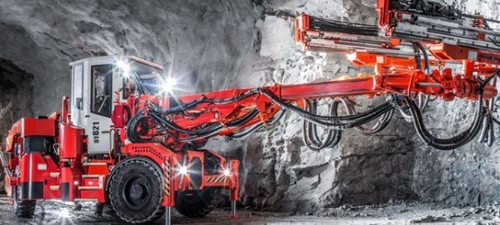 Sandvik DT821 Two Boom, Electro-Hydraulic Jumbo Drill Rig