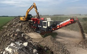 Sandvik QJ341 working in Cumbria, UK