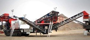 Sandvik UH440E Mobile cone crusher in a quarry application