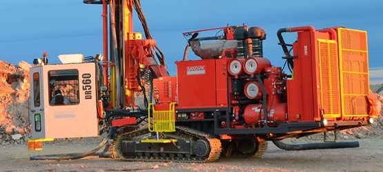 Sandvik high pressure down the hole drill rigs