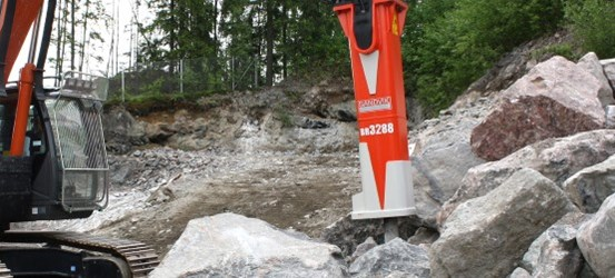 Sandvik breakers, demolition tools and booms