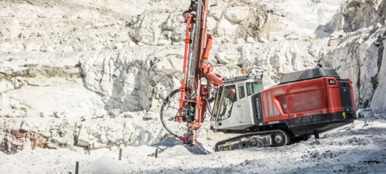 Pantera DP1100i Surface top hammer drill rig — Sandvik