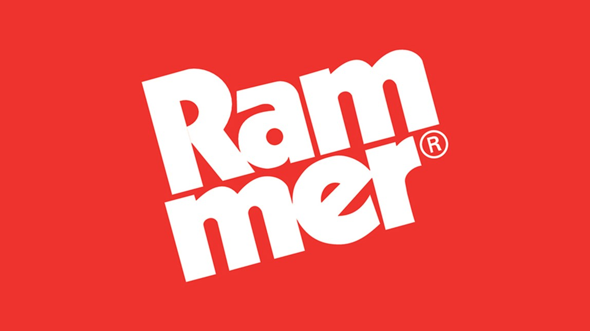 Rammer logo for breakers, booms and demolition tools