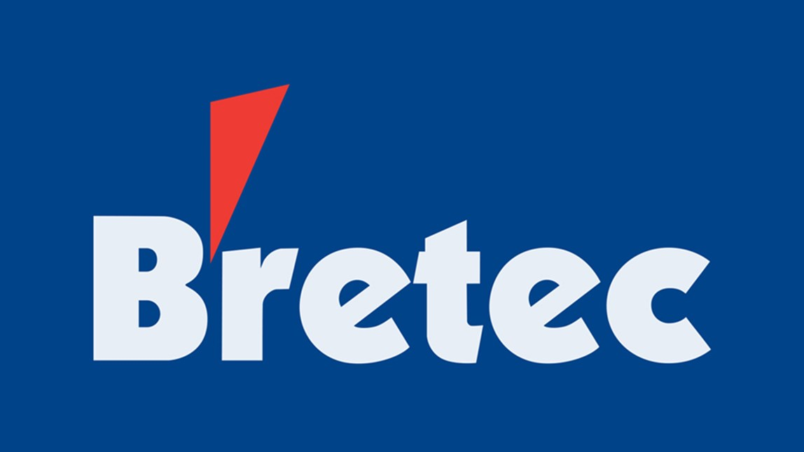 Bretec logo for breakers, booms and demolition tools