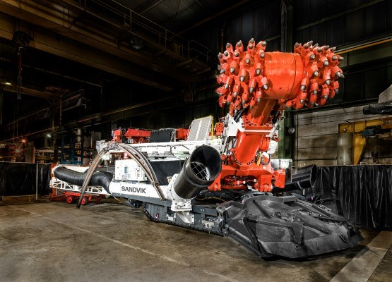 Sandvik MR341 roadheader for mining