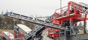 Sandvik US440E Mobile cone crusher