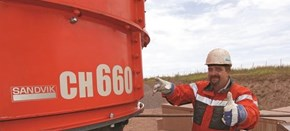 Sandvik CH660 Cone crusher in quarry application