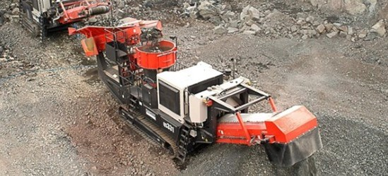 "Sandvik QS331 Mobile ""S"" Cone working in a hard rock application"