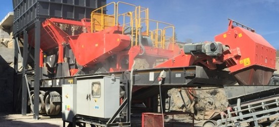 Sandvik UJ310+ Wheeled jaw crusher